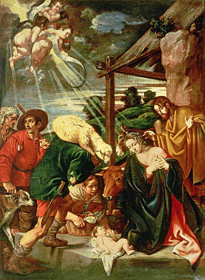 Adoration Of The Shepherds Poster by Pedro Orrente