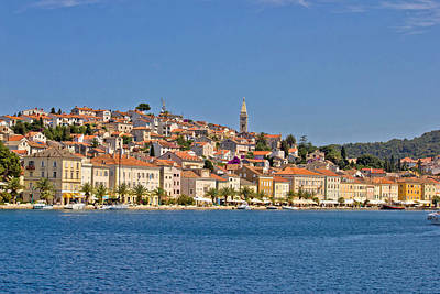 Adriatic Town Of Mali Losinj View From Sea Poster