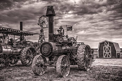 Advance Steam Traction Engine Poster