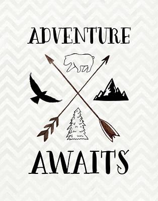 Adventure Awaits Poster by Tara Moss