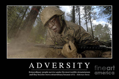 Adversity Inspirational Quote Poster by Stocktrek Images