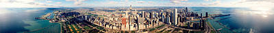 Aerial Chicago Il Poster by Panoramic Images