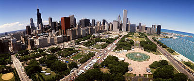 Aerial Grant Park Chicago Il Poster by Panoramic Images