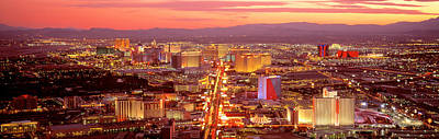 Aerial Las Vegas Nv Usa Poster by Panoramic Images