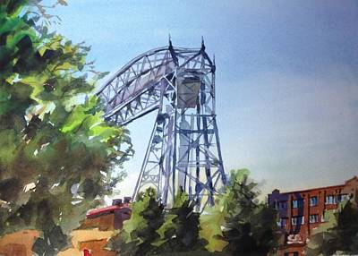 Aerial Lift Bridge Poster by Spencer Meagher