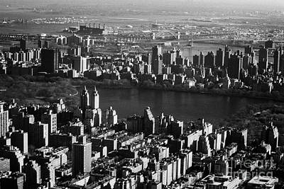 Aerial Shot Of Jacqueline Kennedy Onassis Reservoir In Central Park New York City Manhattan Poster by Joe Fox