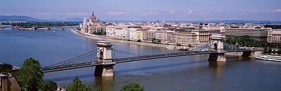 Aerial View, Bridge, Cityscape, Danube Poster