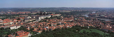 Aerial View Of A Cityscape, Prague Poster by Panoramic Images