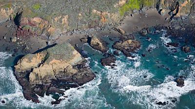Aerial View Of A Coast, San Luis Obispo Poster