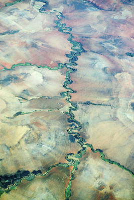 Aerial View Of A River Poster