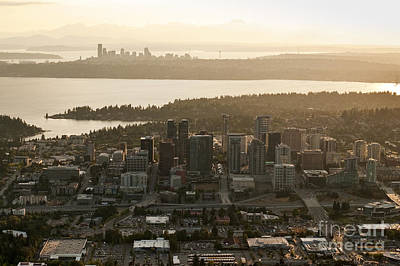 Aerial View Of Bellevue Skyline Poster