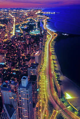 Aerial View Of Lake Shore Drive Poster