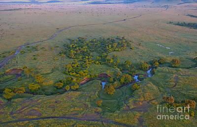 Aerial View Of Masai Mara, Kenya Poster by Bill Bachmann