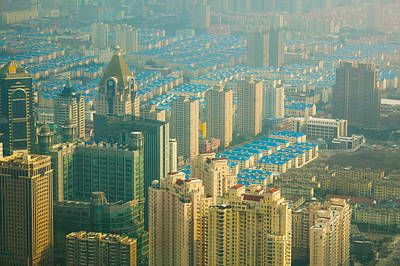 Aerial View Of New Pudong District Poster