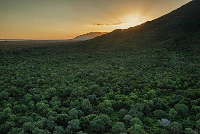 Aerial View Of The Lower Zambezi Valley Poster by Matthew Hood