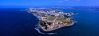 Aerial View Of The Morro Castle, San Poster by Panoramic Images