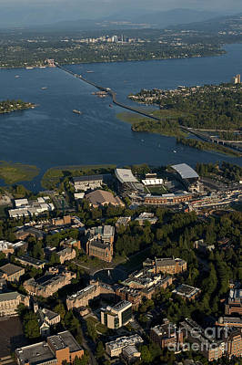 Aerial View Of The New Husky Stadium Poster by Jim Corwin