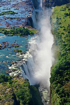 Aerial View Of Victoria Falls Poster