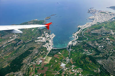 Aerial View Over Mallorca Poster by Wladimir Bulgar