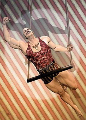 Aerialist Circus Poster