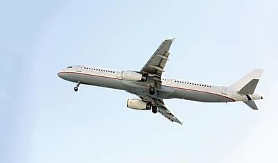 Aeroplane In Sky Poster by Wladimir Bulgar