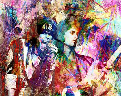Aerosmith Original Painting Poster by Ryan Rock Artist