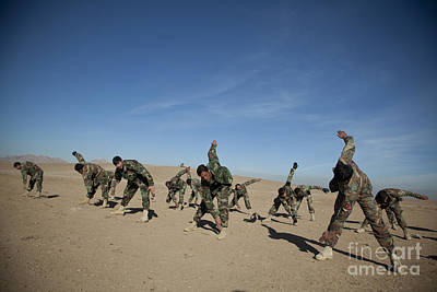 Afghan National Army Commandos Poster by Stocktrek Images