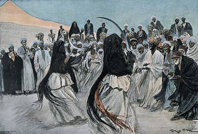Africa 1901. The Dance Of The Sabre Poster by Everett