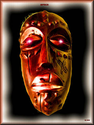 Poster featuring the digital art Africa by Daniel Janda