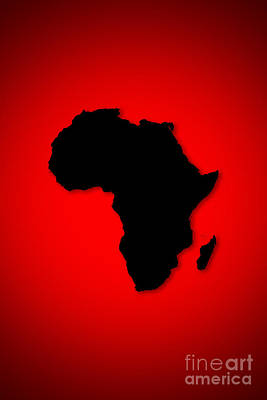 Poster featuring the digital art Africa  by Mohamed Elkhamisy