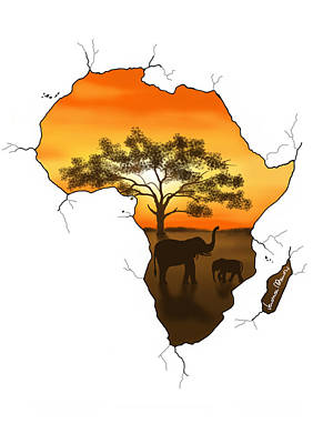 Africa Poster by Veronica Minozzi