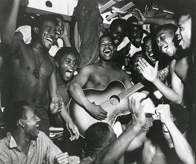 African American Sailors Aboard Poster by Everett