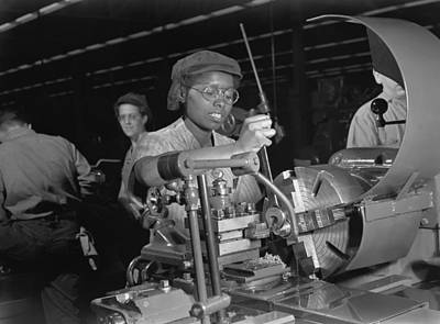 African American Woman Lathe Operator Poster by Everett