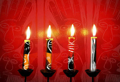 African Candles Poster