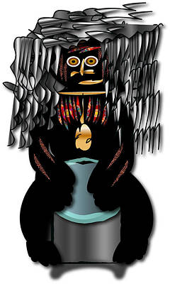 Poster featuring the digital art African Drummer 2 by Marvin Blaine