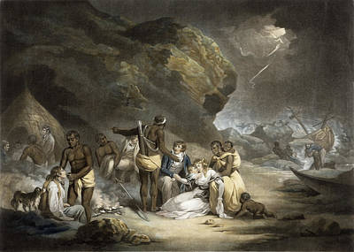 African Hospitality, Engraved By John Raphael Smith, 1791 Mezzotint Poster by George Morland