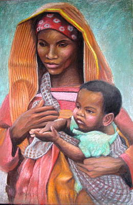 African Mother Poster by Janet McGrath
