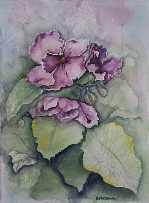 Poster featuring the painting African Violets by Rebecca Matthews