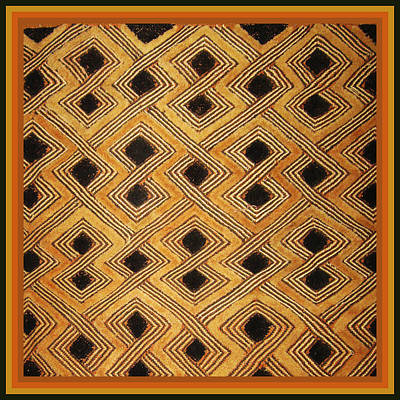 African Zaire Congo Kuba Textile Poster by Vagabond Folk Art - Virginia Vivier