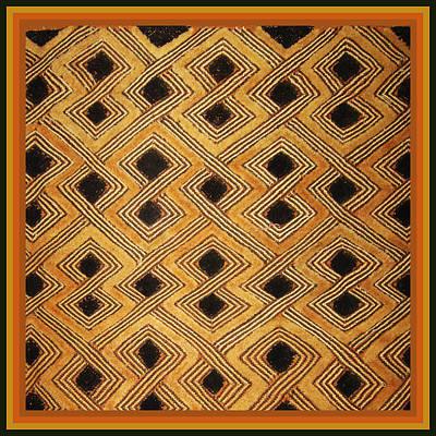 African Zaire Congo Kuba Textile Poster