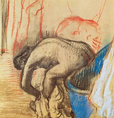 After Bath Poster by Edgar Degas