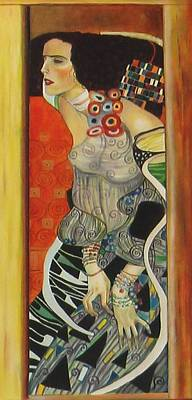 Poster featuring the painting After Gustav Klimt by Sylvia Kula