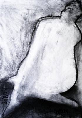 Poster featuring the drawing After Life Drawing 3 by Helen Syron