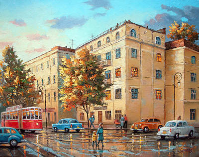 Poster featuring the painting After Rain by Dmitry Spiros