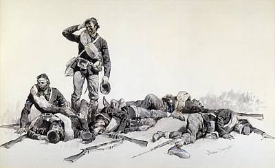 After The Battle Poster by Frederic Remington