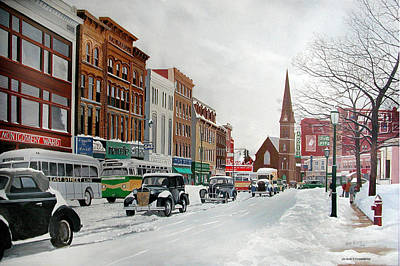 After The Blizzard Poster by John Fitzsimmons