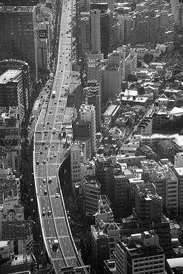 Poster featuring the photograph Afternoon Above Tokyo by Brad Brizek