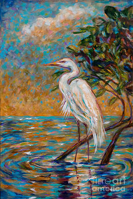 Afternoon Egret Poster
