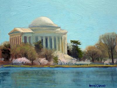 Afternoon Light Jefferson Memorial Poster