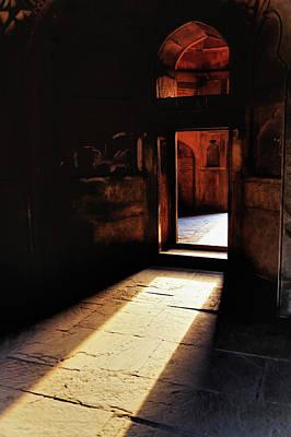 Afternoon Sunlight Through Doorway Poster